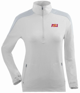 Arizona State Womens Succeed 1/4 Zip Performance Pullover (Color: White)