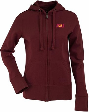 Arizona State Womens Zip Front Hoody Sweatshirt (Team Color: Maroon)
