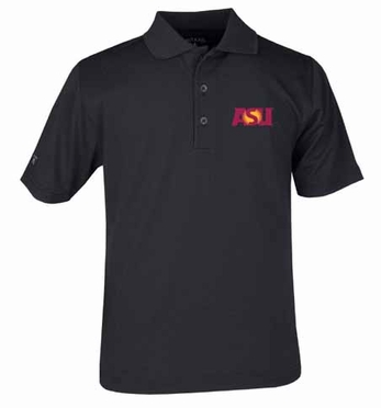 Arizona State YOUTH Unisex Pique Polo Shirt (Team Color: Black)