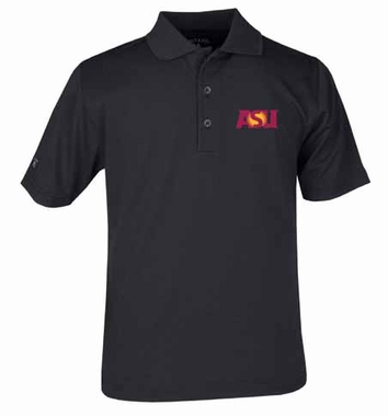 Arizona State YOUTH Unisex Pique Polo Shirt (Color: Black)