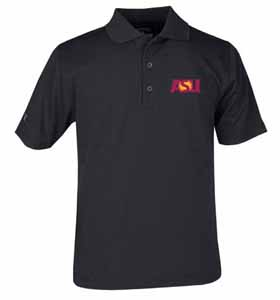 Arizona State YOUTH Unisex Pique Polo Shirt (Team Color: Black) - Large