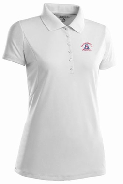 Arizona Womens Pique Xtra Lite Polo Shirt (Color: White)