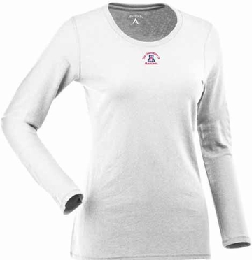 Arizona Womens Relax Long Sleeve Tee (Color: White)