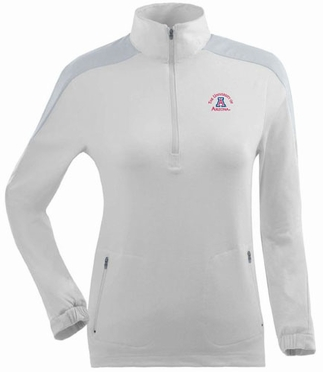 Arizona Womens Succeed 1/4 Zip Performance Pullover (Color: White)