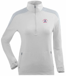 Arizona Womens Succeed 1/4 Zip Performance Pullover (Color: White) - Medium