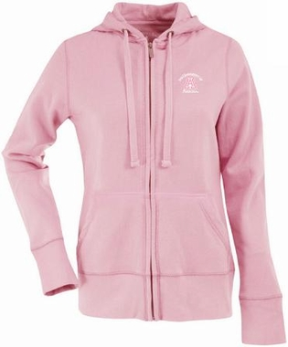 Arizona Womens Zip Front Hoody Sweatshirt (Color: Pink)