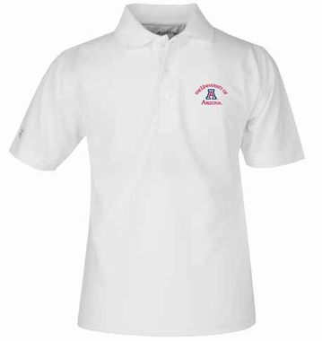 Arizona YOUTH Unisex Pique Polo Shirt (Color: White)
