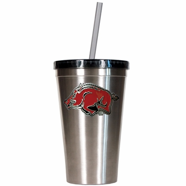 Arkansas 16oz Stainless Steel Insulated Tumbler with Straw