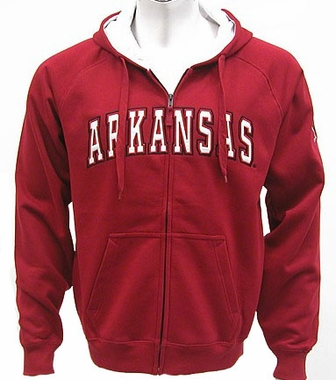 Arkansas Automatic Full Zip Hooded Sweatshirt (Team Color)