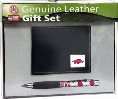 Arkansas Bi-Fold Wallet and Pen Set