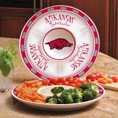 Arkansas Ceramic Chip and Dip Plate
