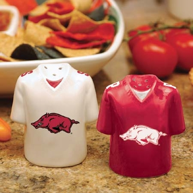 Arkansas Ceramic Jersey Salt and Pepper Shakers