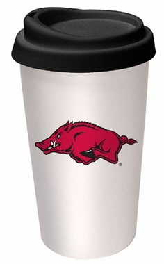 Arkansas Ceramic Travel Cup