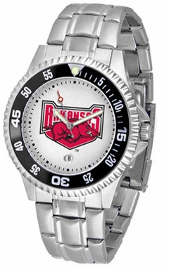 Arkansas Competitor Men's Steel Band Watch