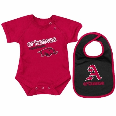 Arkansas Dribble Onesie w/Bib