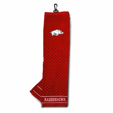 Arkansas Embroidered Golf Towel