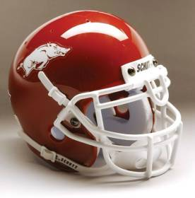 Arkansas Football Helmet - Schutt Mini Replica