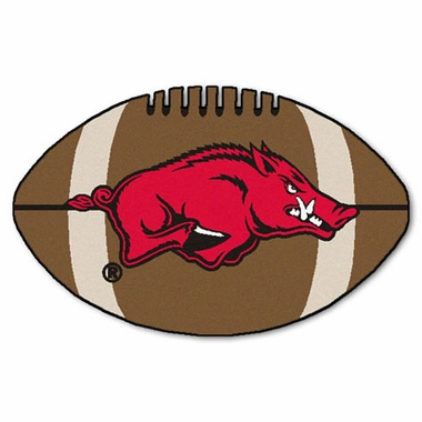 Arkansas Football Shaped Rug