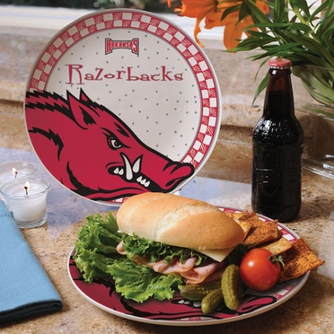 Arkansas Gameday Ceramic Plate