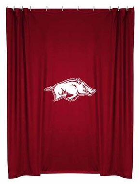 Arkansas Jersey Material Shower Curtain