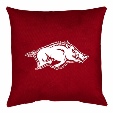 Arkansas Jersey Material Toss Pillow