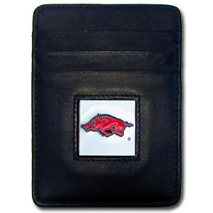 Arkansas Leather Money Clip (F)