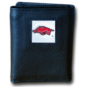 Arkansas Leather Trifold Wallet (F)