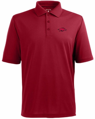 Arkansas Mens Pique Xtra Lite Polo Shirt (Color: Red)