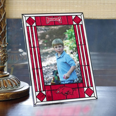 Arkansas Portrait Art Glass Picture Frame