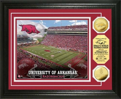 Arkansas Razorbacks University of Arkansas Stadium Gold Coin Photo Mint