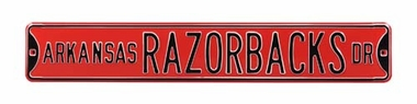 Arkansas Razorbacks Ave Red Street Sign