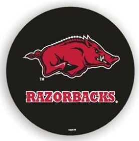 Arkansas Razorbacks Black Spare Tire Cover (Small Size)