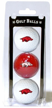 Arkansas Set of 3 Multicolor Golf Balls