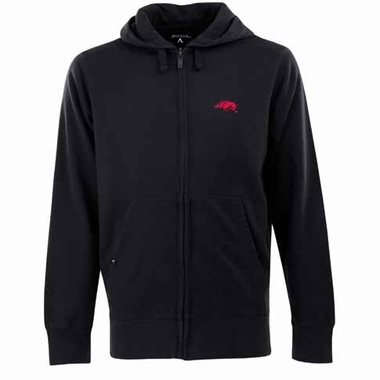Arkansas Mens Signature Full Zip Hooded Sweatshirt (Alternate Color: Black)