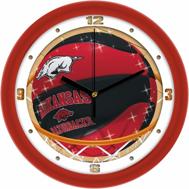 Arkansas Slam Dunk Wall Clock
