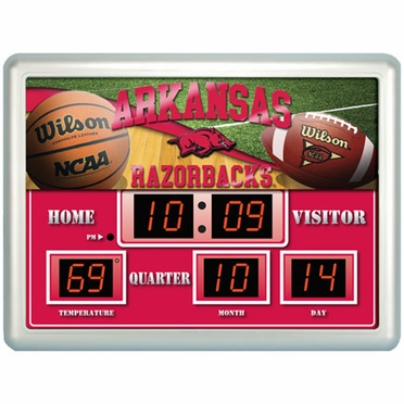 Arkansas Time / Date / Temp. Scoreboard