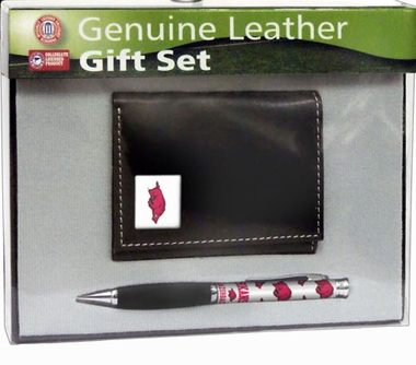 Arkansas Tri-Fold Wallet and Pen Set
