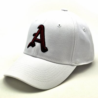 Arkansas White Premium FlexFit Hat