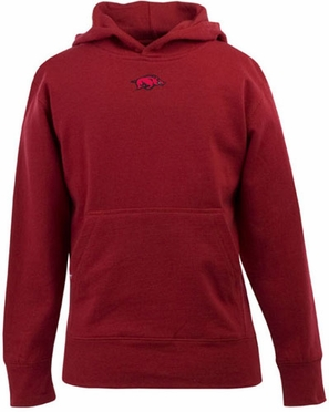 Arkansas YOUTH Boys Signature Hooded Sweatshirt (Team Color: Red)