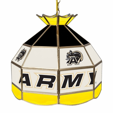Army 16 Inch Diameter Stained Glass Pub Light
