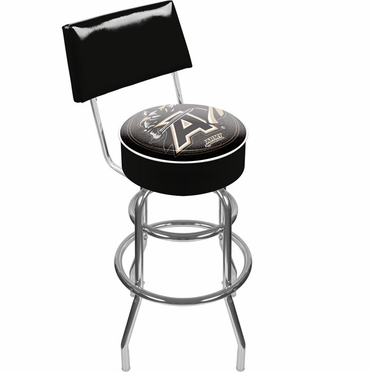 Army Padded Bar Stool with Back