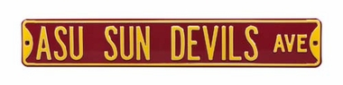 ASU Sun Devils Ave Street Sign