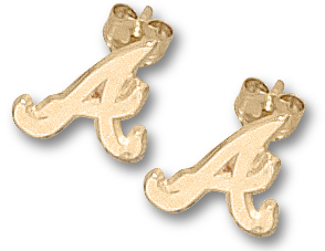 Atlanta Braves 14K Gold Post or Dangle Earrings