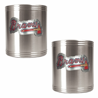 Atlanta Braves 2 Can Holder Set