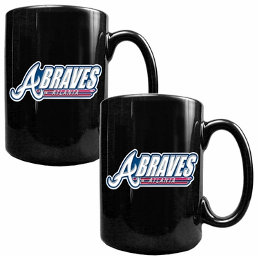 Atlanta Braves 2 Piece Coffee Mug Set (Wordmark)