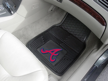 Atlanta Braves 2 Piece Heavy Duty Vinyl Car Mats