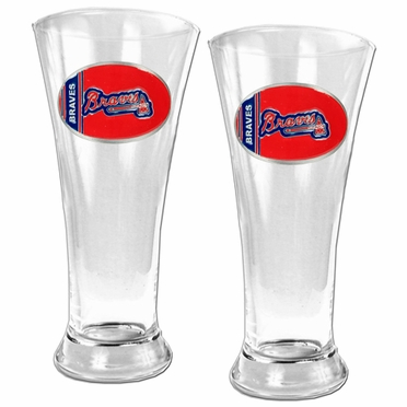 Atlanta Braves 2 Piece Pilsner Glass Set