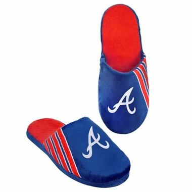 Atlanta Braves 2012 Team Stripe Logo Slippers