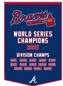 "Atlanta Braves 24""x36"" Dynasty Wool Banner"