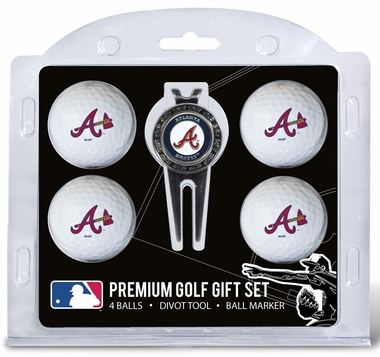Atlanta Braves 4 Ball and Divot Tool Set